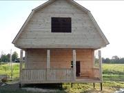 Дом из бруса Елена 6х6 м с установкой в Могилевской области